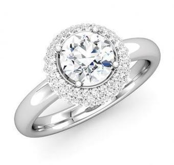 ROUND DIAMOND HALO ENGAGEMENT RING | Diamond Engagement Ring | Scoop.it