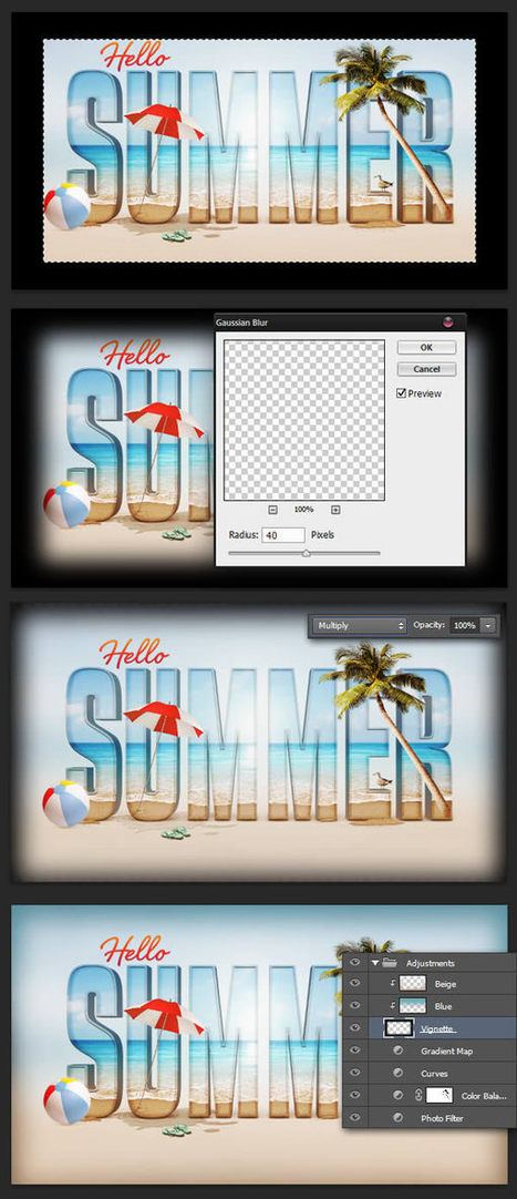 Create a Summer Inspired 3D Text Effect in Photoshop - Envato Tuts+ Design & Illustration Tutorial | Photoshop Tutorials | Scoop.it