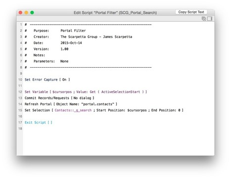 Dynamic Portal Search with FileMaker 14   FileMaker News   Scoop.it