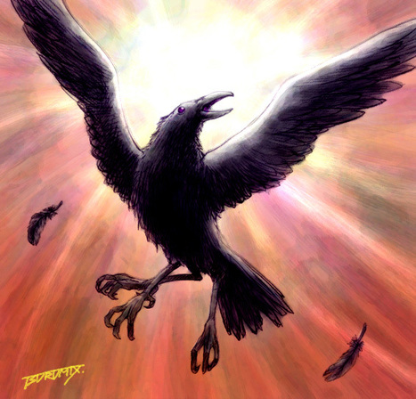 Three-Legged Crow, The Tripedal Crow,  Sanzuwu, Sānzúwū, Sam'zuk'wu, Sae tsoh u, Yatagarasu, Samjok-o | Neolithic | Scoop.it