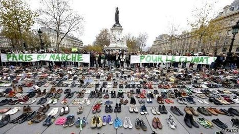 #UN #climate conference: Empty shoes replace cancelled #Paris march #COP21 | Messenger for mother Earth | Scoop.it