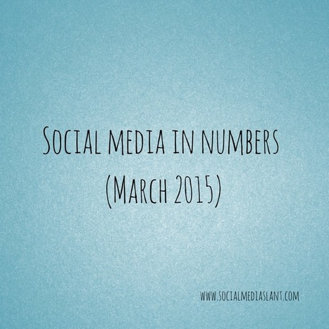 Social media in numbers (March 2015) | Business in a Social Media World | Scoop.it