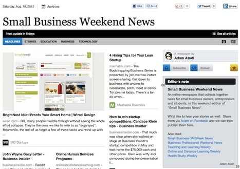 Aug 18 - Small Business Weekend News is out | Business Futures | Scoop.it
