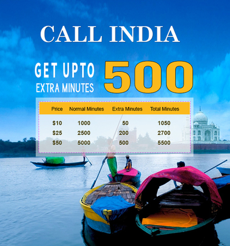 Call India, Get upto 500% extra minutes | Cheap International Calling | Scoop.it