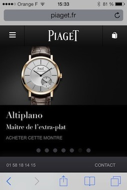 Piaget : quand le luxe investit le m-commerce | Luxury, fashion and marketing | Scoop.it