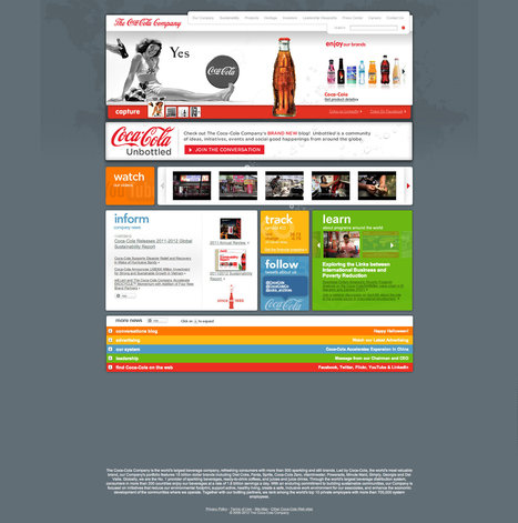 Coke Revamps Web Site to Tell Its Story | The 360 Customer Experience | Scoop.it