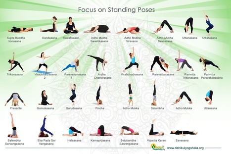 Standing Yoga Poses For Beginners   Visual.ly   Yoga Teacher Training in India   Scoop.it