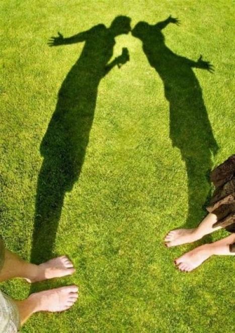 Shadow kisses..... | I didn't know it was impossible.. and I did it :-) - No sabia que era imposible.. y lo hice :-) | Scoop.it