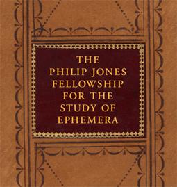 2014 Ephemera Society of America: Philip Jones Fellowship Announcement   New & Vintage Collectibles   Scoop.it