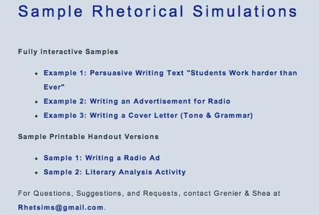 Rhet Sims   Rhetorical Simulations   Scriveners' Trappings   Scoop.it