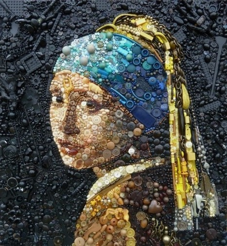 Plastic Classics, Artist Recreates Old Masters With Buttons & Other Found Objects | Bring back UK Design & Technology | Scoop.it