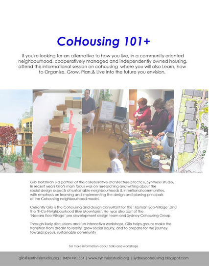 Cohousing New South Wales: Cohousing 101 + | Cohousing, Grants and Autism:  Medical Basis for Community Development | Scoop.it