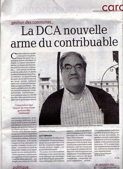 Dans l'Aude, naissance d'une association départementale de contribuables! | Contribuables Associés | Municipalités - Contribuables locaux | Scoop.it