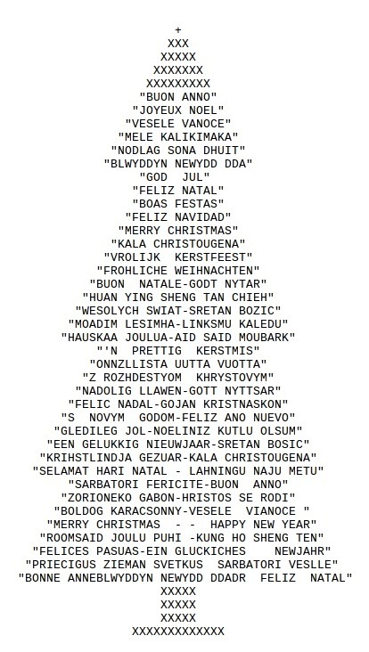 ASCII Art: Christmas Tree ( drawn with typed Characters ) | small Christmas ascii art | Scoop.it