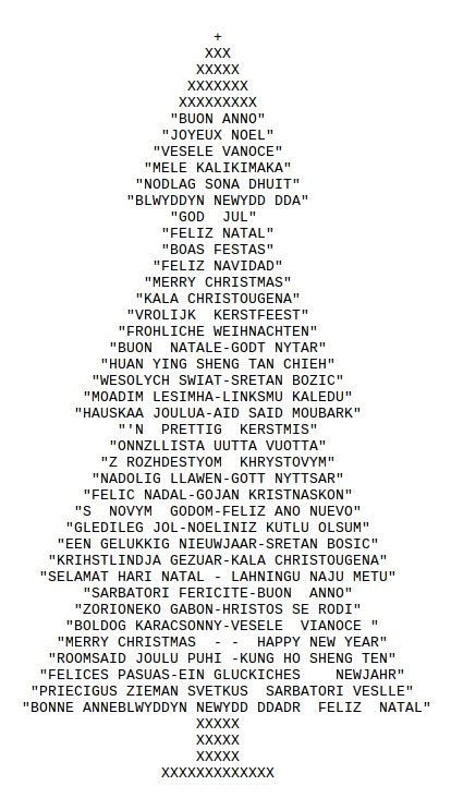 Ascii Christmas Tree