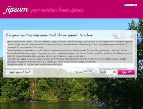 101 essential lorem ipsum generators | feed2need.com | Scoop.it