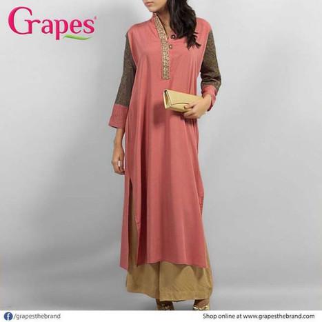 Grapes Fashion New Long Kurti Churidar Stylish Dresses 2014   ..:::-StyloStyle.co.uk-:::..   Stylostyle.co.uk   Scoop.it