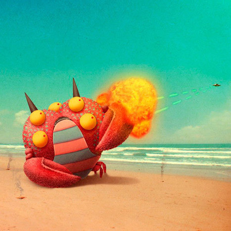 Cute Imaginative Monsters Illustration in Real World Pictures | SpyXotic.com | Scoop.it