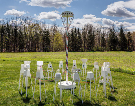 UM Project Creates Robot Lamps That Dance Around Maypole - Design Milk | Promoting Creativity Through Design and Technology | Scoop.it