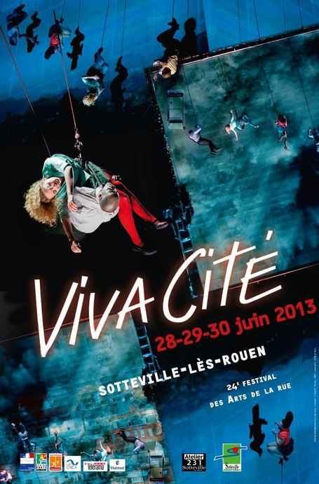 "Viva Cité - visuel de l'édition 2013 du festival !! - Aerial theater ""as the world tipped""