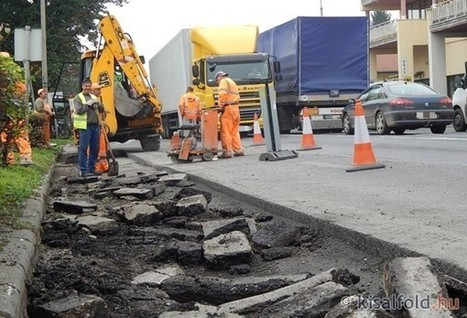 Torlódás, dugó Csornán - javítják a főutat - fotók | Hírek Csornáról | Scoop.it