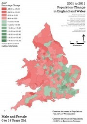 2001 to 2011 Population Change: Where have all the 30 to 44 year olds gone? | mapblogin' | Digital Cartography | Scoop.it