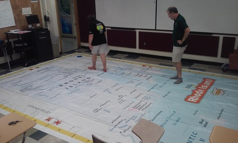 Giant Map of RI | Rhode Island Geography Education Alliance | Scoop.it
