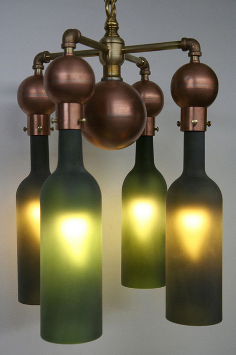 20 Ideas of How to Recycle Wine Bottles Wisely | DesignRulz | Designing Interiors | Scoop.it