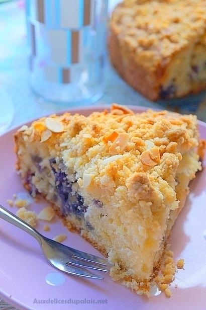 Gâteau façon crumble aux myrtilles | Recette Dessert Gâteau & Cake | Scoop.it