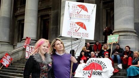 Sex workers rally at Parliament House to decriminalise prostitution | Women: Relationships, alcohol, porn, lesbians, masturbation, swinging, fantasy, female sex predators and orgasm | Scoop.it
