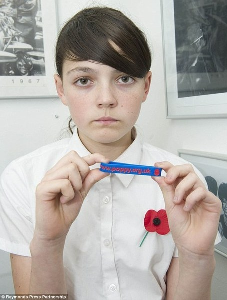 Father attacks daughter's school after she was told to remove poppy band as it breached health and safety rules | Nationalist Media Network | Scoop.it