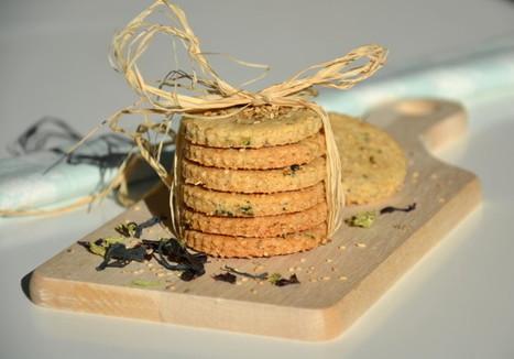 Biscuits santé au sésame et aux algues { 100% Mag } - Les recettes de Juliette | Algues alimentaires | Scoop.it