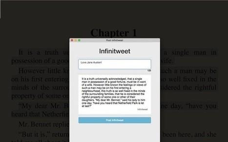 Infinitweet, extensión gratuita para publicar tweets sin límite de caracteres | Educacion, ecologia y TIC | Scoop.it