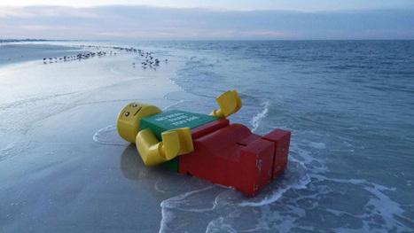 Giant Lego Man Named Ego Leonard Washing Up on World's ... | LEGO | Scoop.it