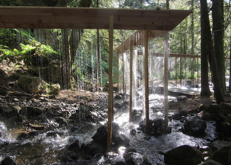 Stunning Water Curtain Installation Zigzags Through Woods in France | Art Installation | Scoop.it