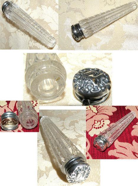 Antique Tear Catcher Perfume Bottle Pendant Victorian Silver & Cut Glass Lachrymatory  Sterling | antiques information | Scoop.it