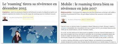 Fin annoncée du roaming (ou itinérance) entre opérateurs mobiles en Europe, une bonne nouvelle également pour les services sans contact NFC   Ville Numérique   Scoop.it