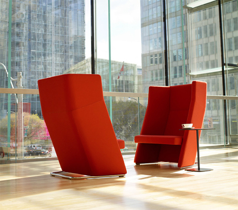 Top Ten: High Back Seating for Public Privacy - 3rings | Designing Interiors | Scoop.it