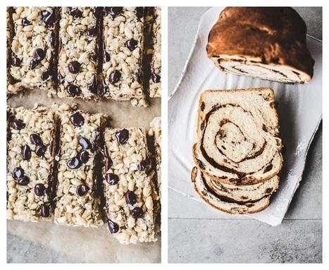 Short and Sweet: Chewy, Chocolate Chip, Coconut Granola Bars {GF, Vegan} and Pecan-Raisin Cinnamon Swirl Bread {Vegan} | My Vegan recipes | Scoop.it