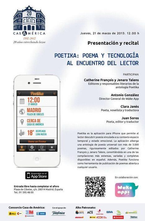 POETIKA, Presentación y recital, Jueves, 21 de Marzo de 2013, 12 h., Madrid. | Red Social Glocal | Scoop.it
