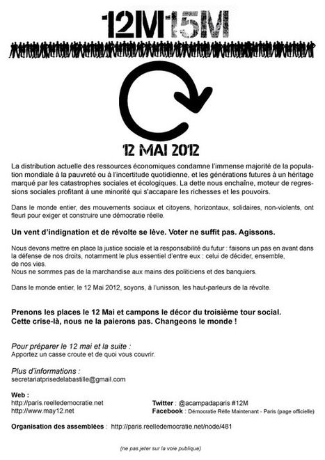 tract #12M15M Indignés de Paris | #marchedesbanlieues -> #occupynnocents | Scoop.it