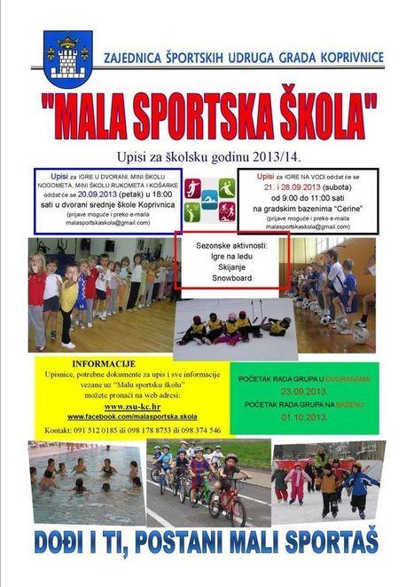 Upisi u Malu sportsku školu u sezoni 2013./2014. | Zajednica ... | škola | Scoop.it