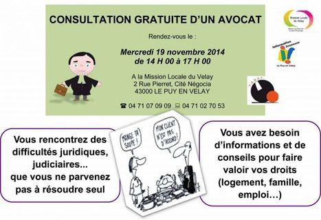 Permanences d'avocat à la mission locale du Velay | Culture Mission Locale | Scoop.it