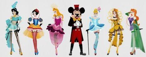 Disney Princesses Re-Imagined as Burlesque Showgirls   All Geeks   Scoop.it