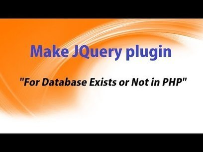 Make JQuery plugin for Database Exists or Not in PHP ~ Webslesson | Povonte Blog | Scoop.it