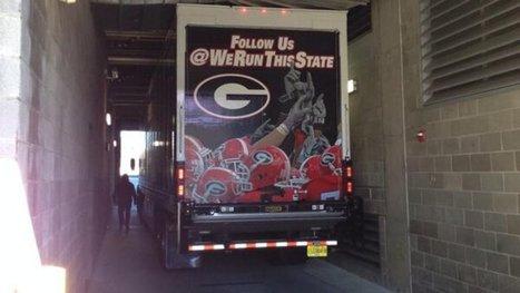 Georgia equipment truck stuck in Georgia Tech stadium tunnel ... | Sports Management.4465530 | Scoop.it