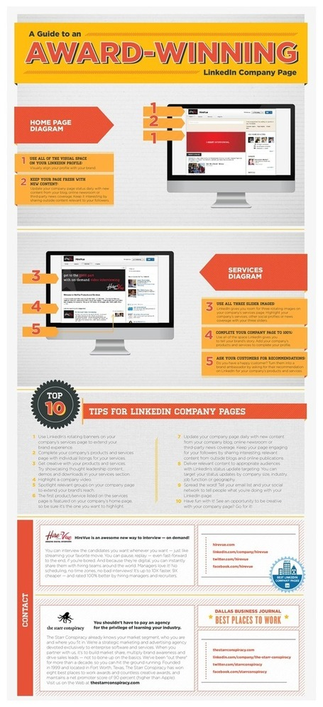 Want to Create an Award-Winning LinkedIn Company Page? - Hirevue | Top Internet Marketing Infographics - in my opinion | Scoop.it