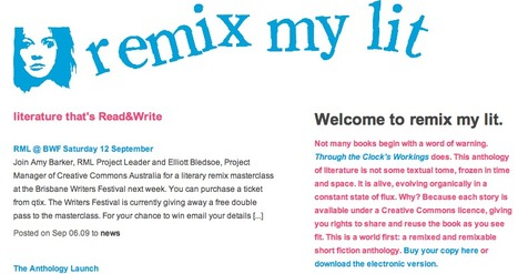 """remix my lit » anthology:  """"Through the Clock's Workings"""" is a remixed and remixable anthology of literature. 