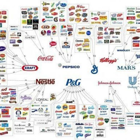 10 Corporations Control Almost Everything You Buy — This Chart Shows How | Harvard Trends | Scoop.it