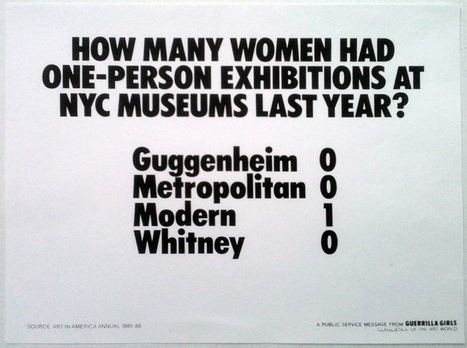 Most Striking Posters on Gender Inequality in the Art ... - Flavorwire | Quantumleap4life | Scoop.it